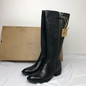 Born Poly Knee Black Leather Boots